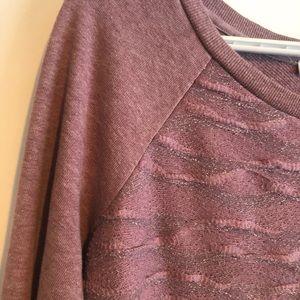 3/$12 ⭐️ Textured Sparkly Mauve Sweater